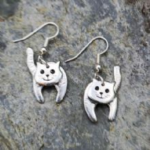 3D Cat earrings E102